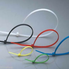 Strong Coloured Cable Ties Zip Wrap Wide 100mm-300mm Nylon Small Medium Large