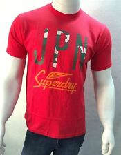 Red JPN Superdry Round Neck t shirt For Mens