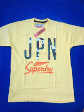 Yellow JPN Superdry Round Neck t shirt For Mens