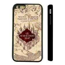 HARRY POTTER HOGWARTS MAP BLACK PROTECTIVE PHONE CASE COVER FITS IPHONE 4 5 6 7