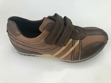 Kickers Zero Strap Boys Brown and Tan Leather Shoes Various Sizes