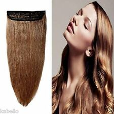 Kabello Human Hair Extensions 120 Grams Straight (Light Brown) Instant Length