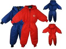KIDS WATERPROOF RAINSUIT SNOWSUIT BOYS GIRLS ALL IN ONE SUIT CHILDREN 9-24MONTHS