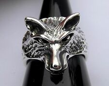 Argento Sterling (925) Wolf Anello Nuovo