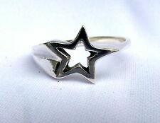 Argento Sterling (925) Shooting Star Anello Nuovo