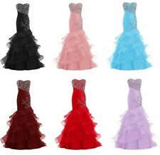 Long Mermaid Bridesmaid Prom Evening Dresses Cocktail Wedding Party Formal Gowns