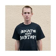 CAMISETA THRASHER SKATE & DESTROY BLACK