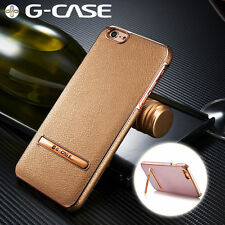 G-CASE Plating Leather Ultra Thin Back Kickstand Case For iPhone 7/6s/6/Plus/