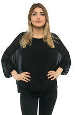 Madonna Damen Shirt Tunika Bluse Langarmshirt Fledermaus Top Party