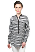 Moderno Geometric Printed Top (MOD084_Black)