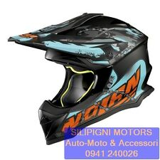 NOLAN N53 NO ENTRY 33 FLAT ASPHALT BLACK Casco Integrale Off Road Enduro Cross