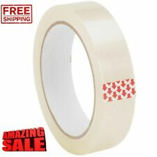 "CLEAR TAPE BIG ROLLS PARCEL PACKING SELLOTAPE 1"" 25MM X 66M CELLOTAPE PACKAGING"