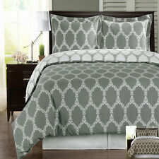 Twin/ TwinXL 2-PC Brooksfield Combed Cotton Duvet Cover Set 300 TC-Reversible