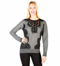 Silvian Heach - Jersey color gris, negro Mujer chica