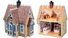Large Wooden Doll House Vintage Victorian Kit Wood Dollhouse DIY Cottage Girls