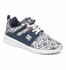 Zapatos De Mujer Training DC Shoes Heathrow Blanco Azul Print Chaussures Schuhe