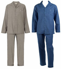 Checked Pyjamas Set Mens 100% Cotton Walker Reid Long Sleeved Nightwear PJs