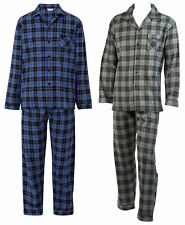 Checked Pyjamas Set Mens Brushed Cotton Walker Reid Long Sleeved Nightwear PJs