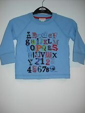 BNWT 'Fashionable' 100 % Cotton Monsoon Long Sleeve Top  Age 6-12 Months.