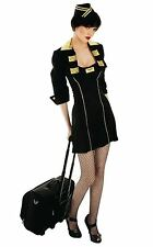 Ladies Cabin Crew Fun shack dressing up costume sexy adult outfit tv air hostess