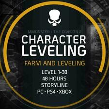 1-30 Level Boost Service The Division 2 Leveling Boosting Storyline PC/PS4/XBOX