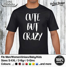 CUTE BUT CRAZY T Shirt Psycho Story Hipster Love Tumbrl Dope American Horror top