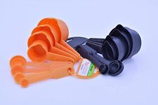 8-Piece Measuring Cups & Spoons 2 Colours Home Household Assorted