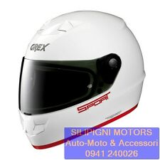 NOLAN GREX G6.1 K-SPORT 43 Metal White + Visiera Dark Green Casco Integrale