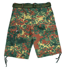 Army Cargo Bermuda Shorts German Military Camouflage Trousers With Belt