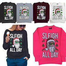new ladies christmas Limited Edition sleigh all day sweatshirt funny xmas gift