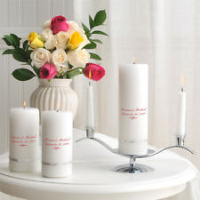 Wedding Unity Candle Ceremony Personalized Pillar Candle or Set Q66346