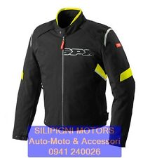SPIDI FLASH H2OUT - D160 GIALLO FLUO 486 GIACCA MOTO 4 Stagioni Impermeabile