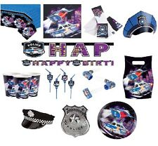 Police Party Supplies Birthday Party Supplies Tableware Plates Cups Napkins Hats