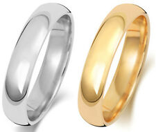 4mm Platinum, Palladium, 18ct/9ct Carat White/Yellow Gold Wedding Band/Ring