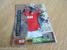Adrenalyn XL Champions League 2011/12 NANI *SILVER* Limited Edition 11/12 RARE!!