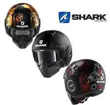 Casco SHARK Raw Drak Sanctus jet moto scooter aviador decoración cabeza muerte