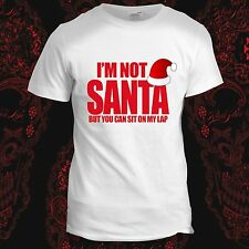 Sit on Santa Lap Funny Dad Mens Father Gift Christmas Present T Shirt