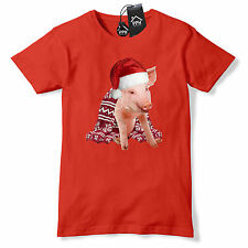 Pigs in Blanket Santa Claus Hat Funny Christmas T Shirt Pig Sprout Gift Top CH47