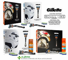GILLETTE PACK FUSION PROGLIDE FLEXBALL GEL , STAR WARS RASOIO RICAMBI SET