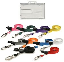 Badge Buddy ID Card Holder & ID Neck Strap Lanyard With Lobster Clip lot