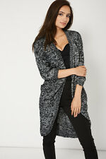 Stunning ex- high street brand, Curved Hem Cardigan With Open Front