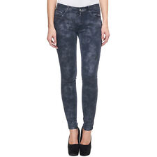 Damen Skinny Jeans Stretch Hose Treggings Jeggings Dunkelblau C1813-1