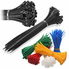 Nylon Plastic Cable Ties Zip Tie Wrap Black White Red Green Brown Blue Yellow