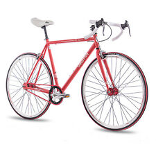 "28"" FIXIE FAHRRAD CHRISSON FG ROAD 1.0 FIXED GEAR SINGLE SPEED rot 59cm B-WARE"