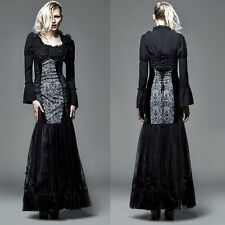 PUNK RAVE Gothic Fishtail Miederrock EDEL ROMANTIC VICTORIAN SKIRT GOWN PROM