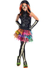 Child Monster High Skelita Calaveras Halloween Party Fancy Dress Costume