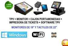 TPV COMPLETO INTEL + IMPRESORA TICKET + CAJON PORTAMONEDAS + SOFTWARE