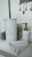 WC accessories Soap Dispenser Soap Dish Toilet brush Cottage Vintage Shabby