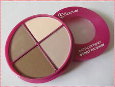 Flormar Pretty Compact Quartet Eyeshadow With Intense Vibrant Colors