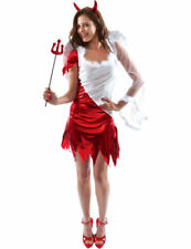 Womens Sexy Angel Devil Ladies Halloween Party Fancy Dress Costume